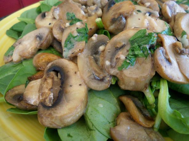 Spinach/Mushroom dise