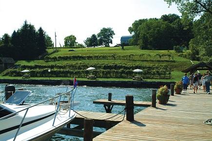 Goose boat dock