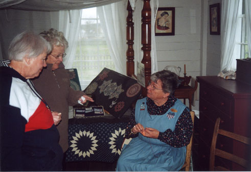 Barrington - sewing and visitors