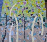 Abstract tree wall hanging