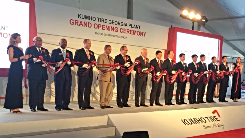 Kumho Tire Ribbon Cutting