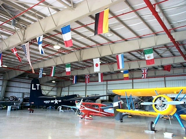 View of Wings Over Miami Hangar