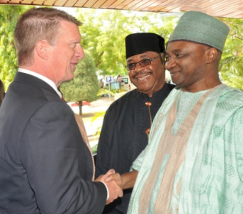 IRF President & CEO greeted by Nigerian Vice President