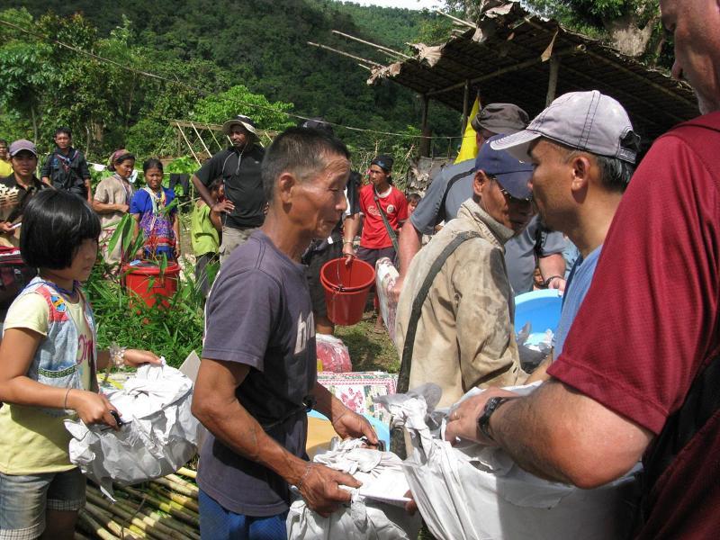 Villagers Receive Supplies
