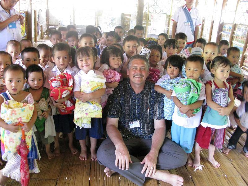 Charlie with Refugee Children