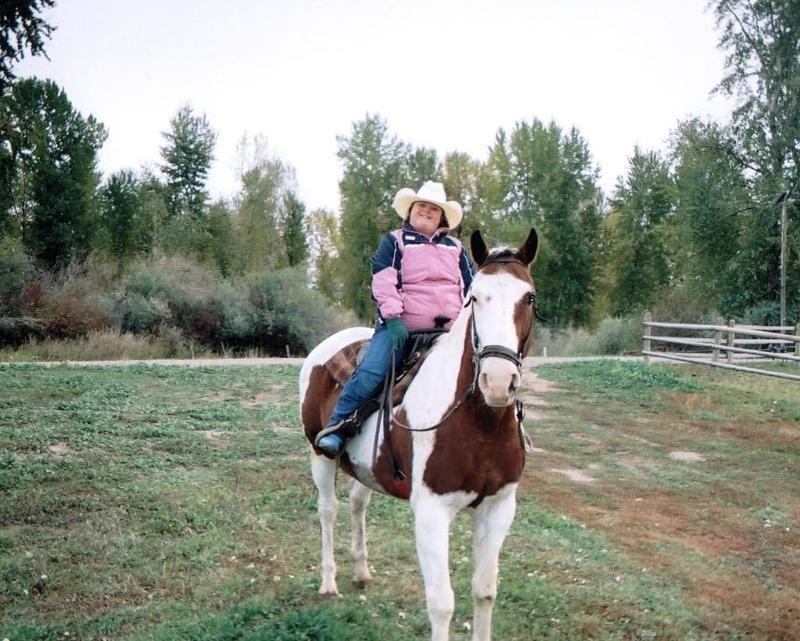 Shelley riding her horse