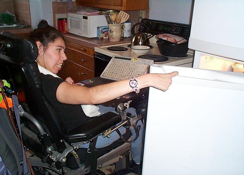 Carley in her kitchen
