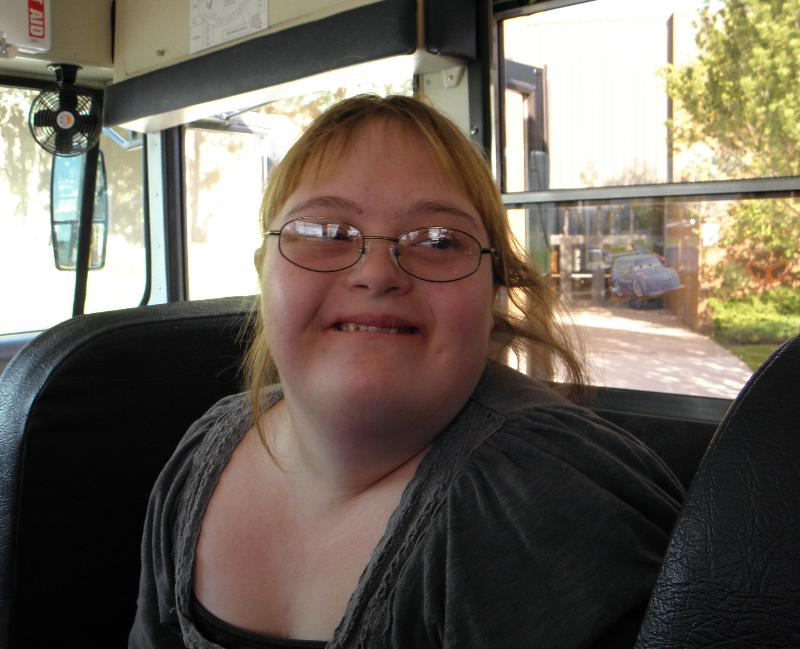 Shelley on the bus