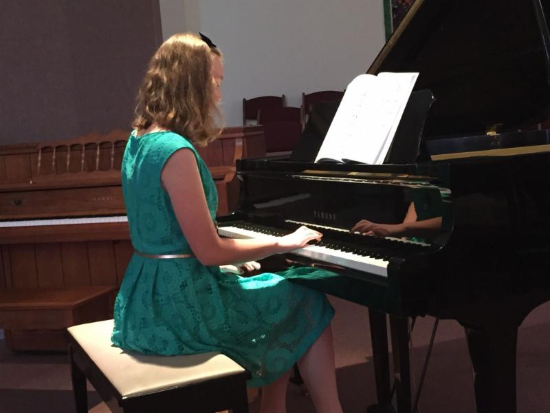 Allison playing piano