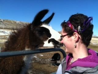 Sarah and Llama