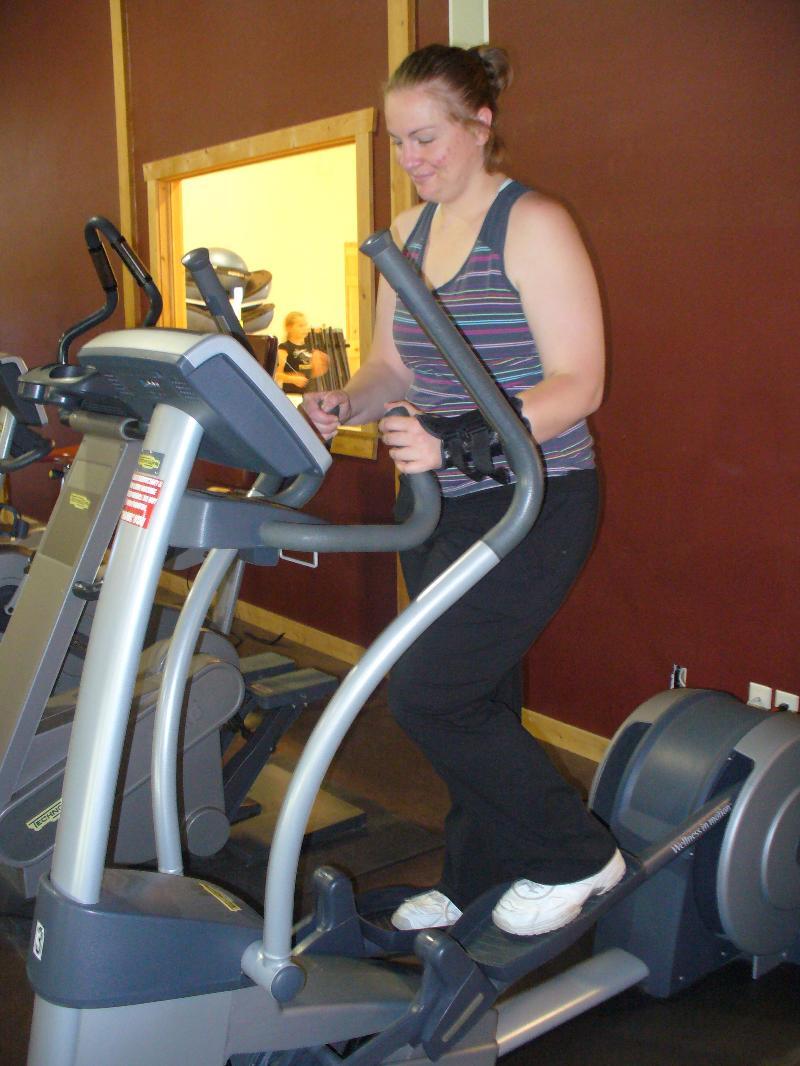 Amanda Exercising on a Treadmill