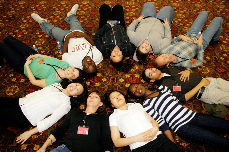 Students at a Diversity Summit.
