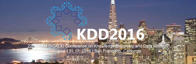 KDD 2016 San Francisco