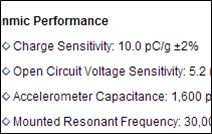 Sensor Sensitivity