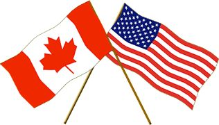 Canada-US flags