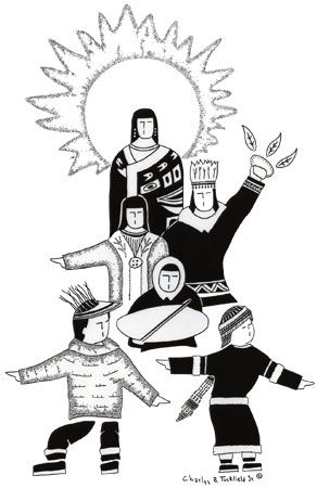AK Native family drawing