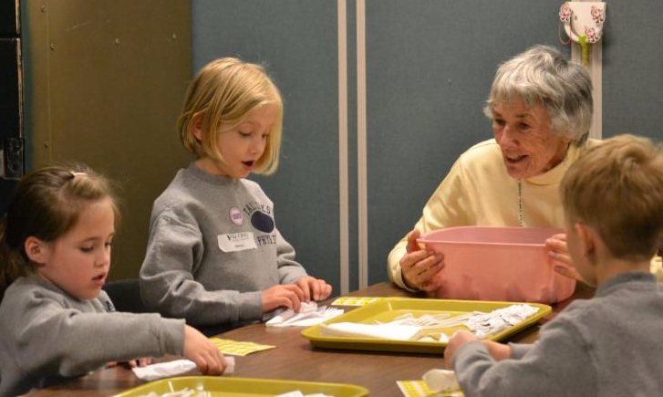 Volunteers from Tall Oaks Classical School at the Women's Day Center