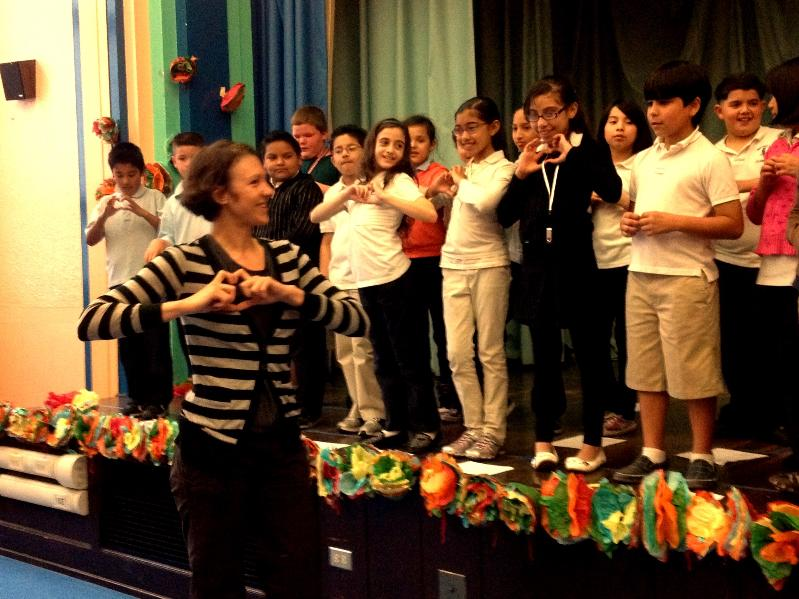 Bennett Elementary Fourth Graders Rehearse