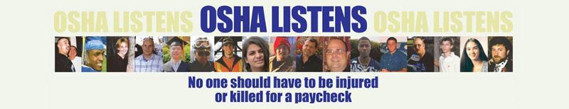 OSHA listens banner
