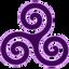 purple triskele