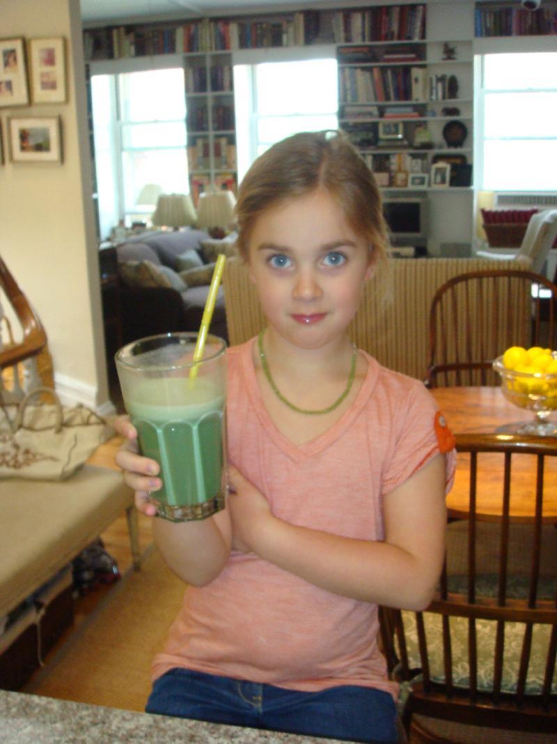 Caroline with smoothie