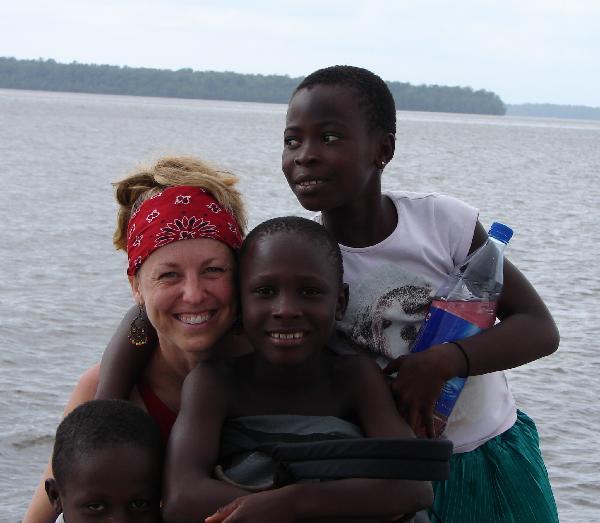me with kids on oporoza jetty