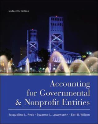 2013 Accounting for Governmental and Nonprofit Agencies book cover