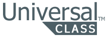gray universal class logo