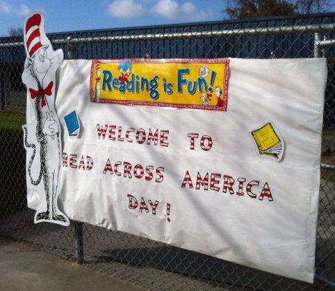 Pioneer Elementary Read Across America Sign