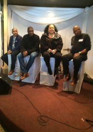 Panel discussion at Gospel cafe