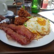 breakfast bacon eggs