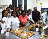 Selwyn with the Hon Jean Augustine Culinary Arts Program