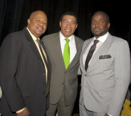 Chef Selwyn and brother Travis with former Prime Minister of Jamaica Andrew Holness _centre_ now serving as Leader of the Opposition