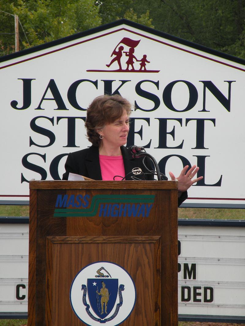 Jackson St Ribbon Cutting - Administrator Paiewonsky