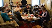 Retreat knitting circle