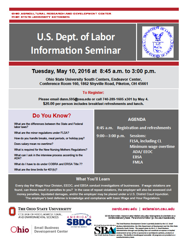 us department of labor case study essay The department of labor will hold hearings on the possibility of ending minimum wage tip credits in new it will help us improve your experience department of labor.