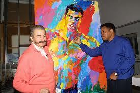 Leroy Neiman with Muhammad Ali