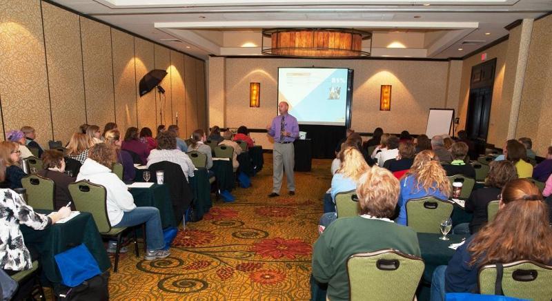 Tim Crum Delivering a Presentation