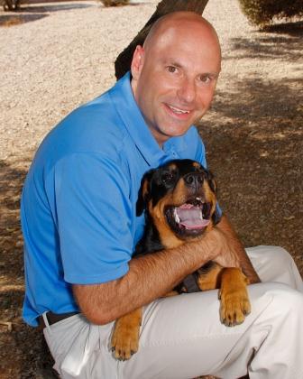 Tim with dog