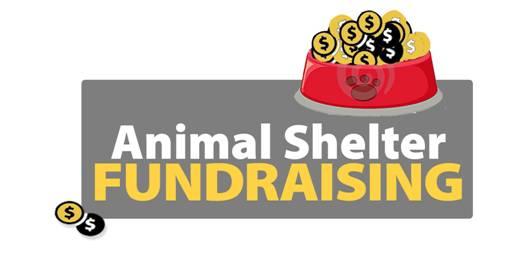 animal shelter fundraising bowl logo