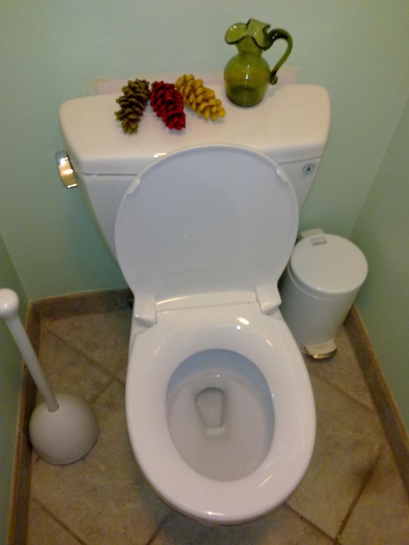 water-saving toilet
