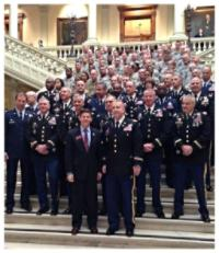 Men and Women of the Georgia National Guard visit the Capitol on Georgia National Guard Day. Thanks for your service!