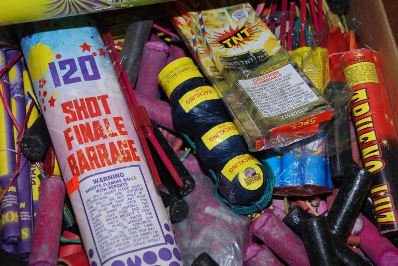 Possessing and using fireworks is illegal in San Diego County