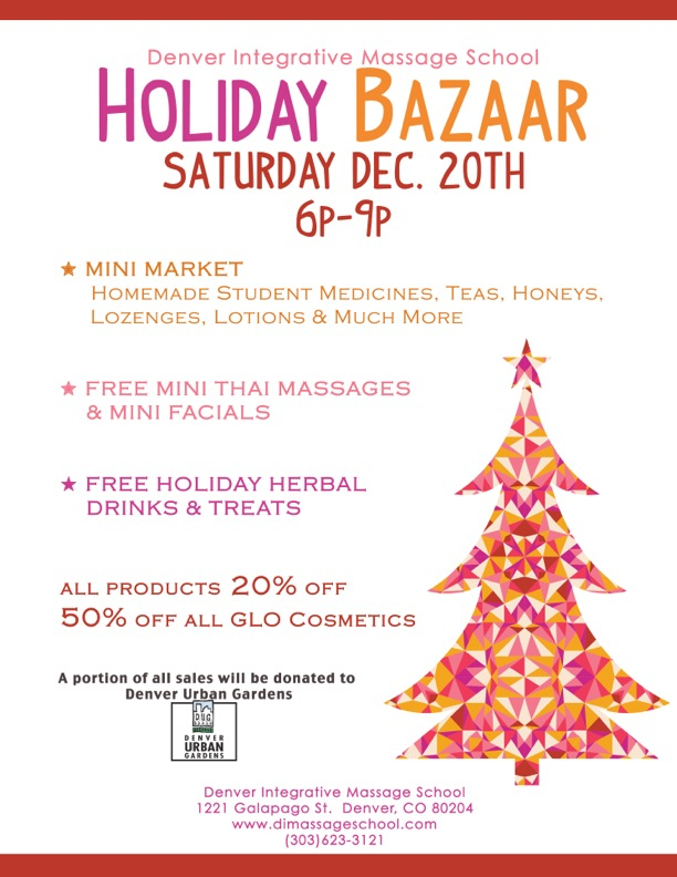 Treat Yourself at the Holiday Bazaar @ Denver Integrative Massage School | Denver | Colorado | United States