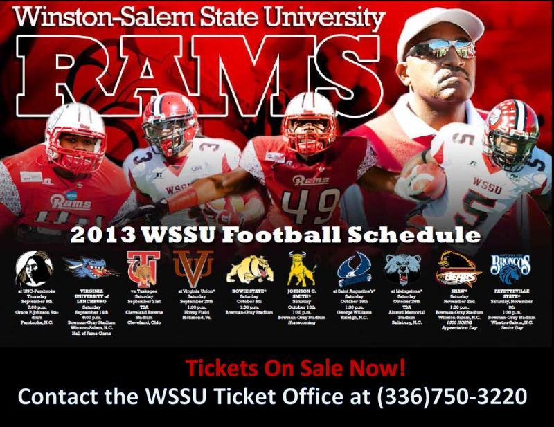 WSSU Ram Football 2013