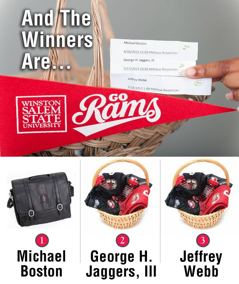 Survey Drawing Prize Winners