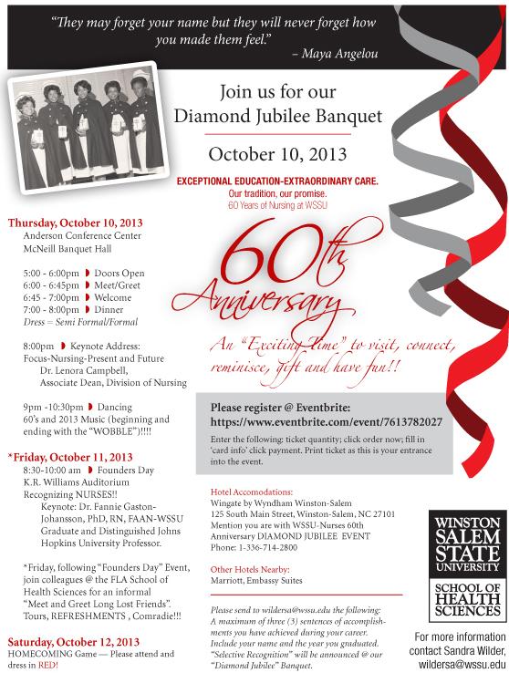 Nursing 60th Anniversary Celebration