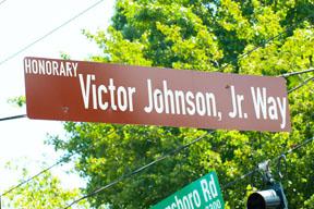 Victor Johnson Jr. Way Street Sign