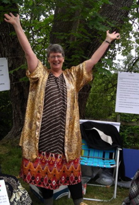 Bonnie celebrates our decision