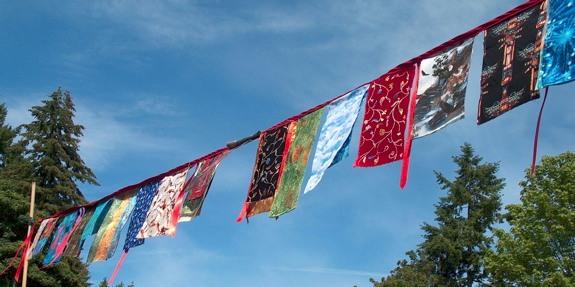 peace flags